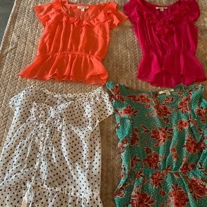 Bundle of 4 Forever 21 blouses. Different colors.